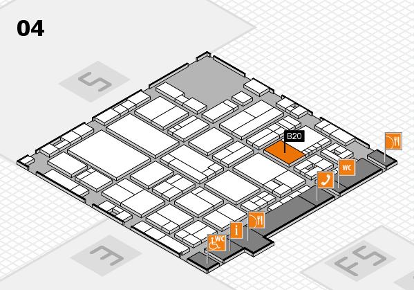 drupa 2016 hall map (Hall 4): stand B20