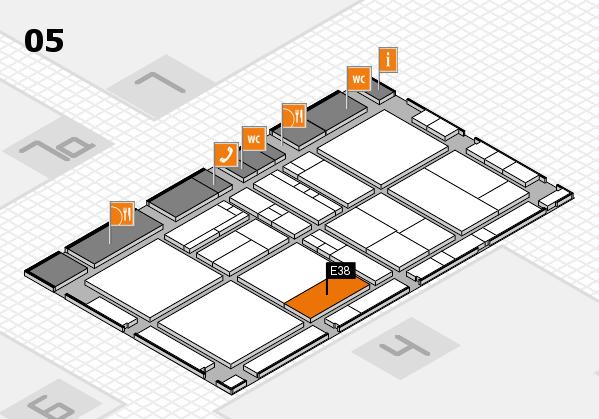 drupa 2016 Hallenplan (Halle 5): Stand E38