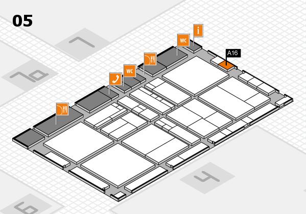 drupa 2016 hall map (Hall 5): stand A16