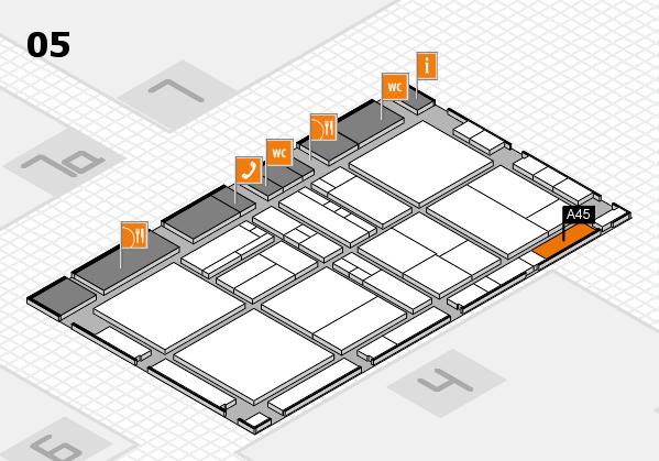 drupa 2016 Hallenplan (Halle 5): Stand A45