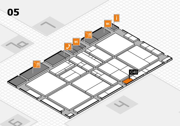 drupa 2016 Hallenplan (Halle 5): Stand C40