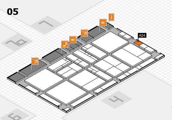 drupa 2016 Hallenplan (Halle 5): Stand A24