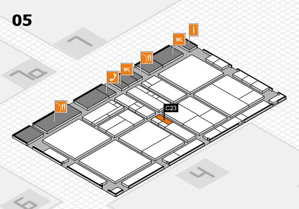 drupa 2016 Hallenplan (Halle 5): Stand C23