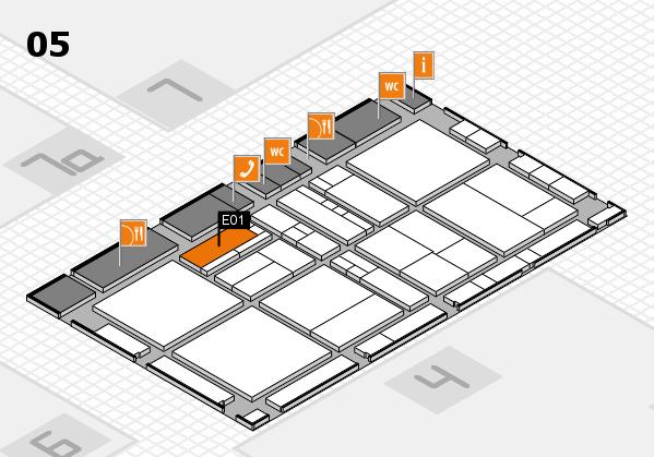 drupa 2016 hall map (Hall 5): stand E01