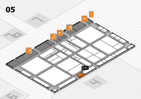 drupa 2016 Hallenplan (Halle 5): Stand E40
