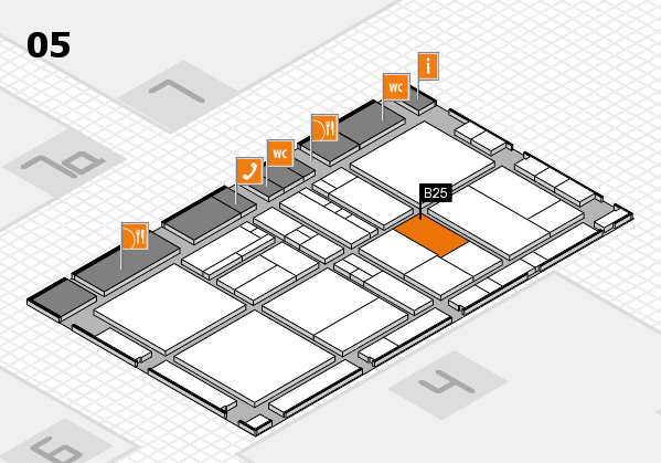 drupa 2016 hall map (Hall 5): stand B25