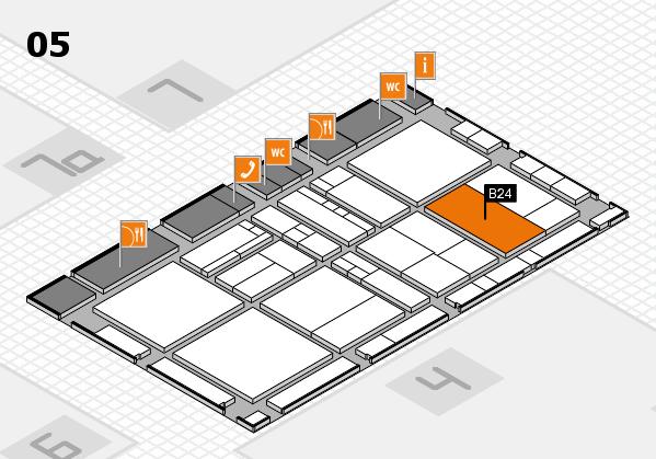 drupa 2016 Hallenplan (Halle 5): Stand B24