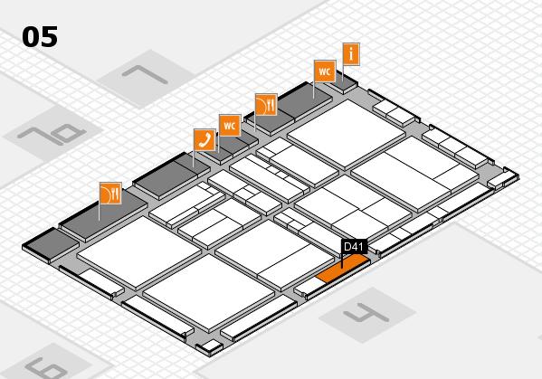 drupa 2016 hall map (Hall 5): stand D41