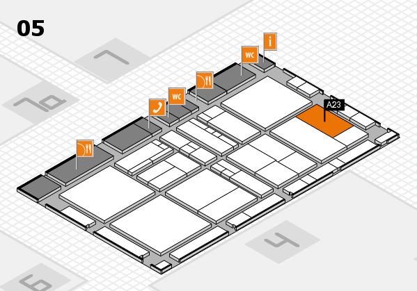 drupa 2016 Hallenplan (Halle 5): Stand A23