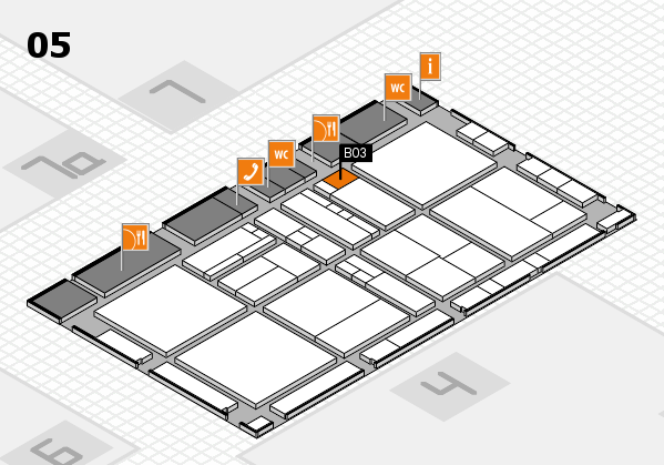 drupa 2016 hall map (Hall 5): stand B03