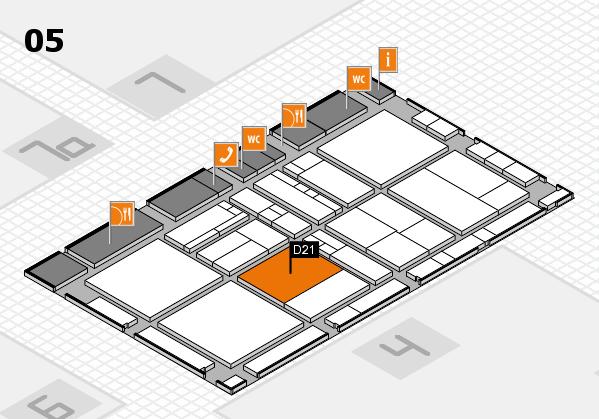 drupa 2016 Hallenplan (Halle 5): Stand D21