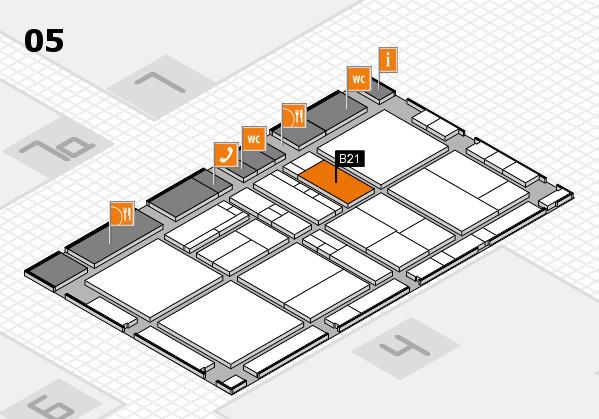 drupa 2016 Hallenplan (Halle 5): Stand B21