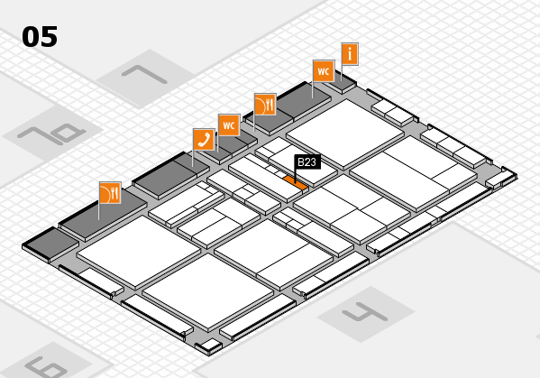 drupa 2016 Hallenplan (Halle 5): Stand B23