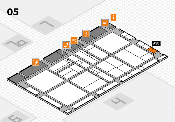 drupa 2016 Hallenplan (Halle 5): Stand A36