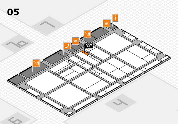 drupa 2016 hall map (Hall 5): stand B07