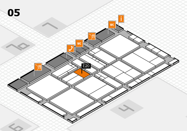 drupa 2016 Hallenplan (Halle 5): Stand E20