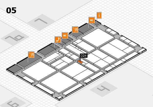 drupa 2016 hall map (Hall 5): stand D24
