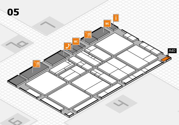drupa 2016 Hallenplan (Halle 5): Stand A40