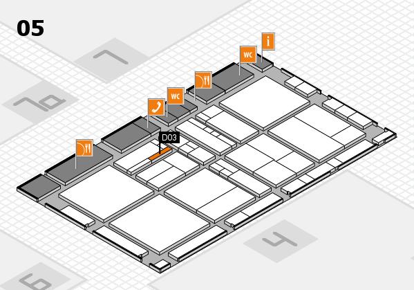 drupa 2016 Hallenplan (Halle 5): Stand D03