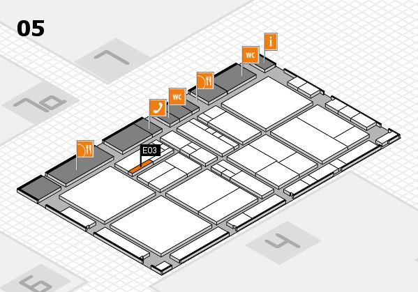drupa 2016 Hallenplan (Halle 5): Stand E03