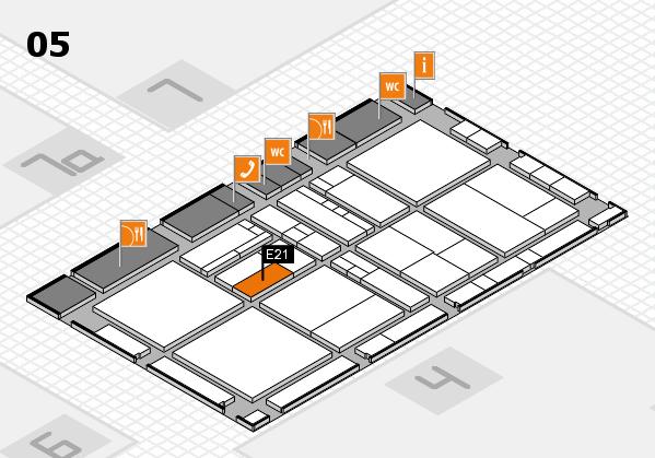 drupa 2016 Hallenplan (Halle 5): Stand E21