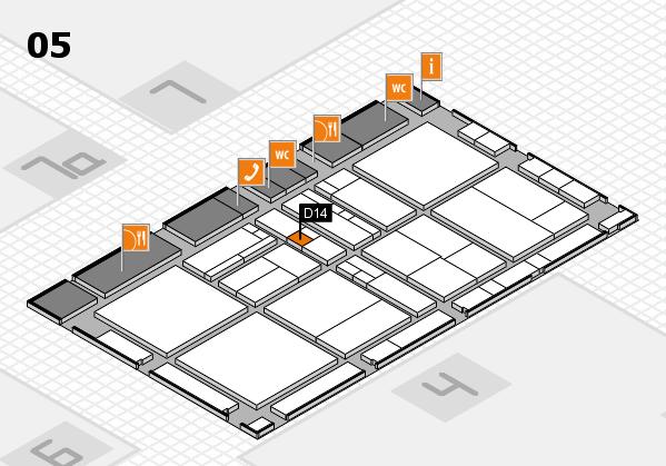 drupa 2016 Hallenplan (Halle 5): Stand D14