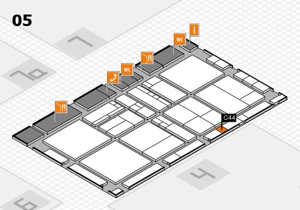 drupa 2016 Hallenplan (Halle 5): Stand C44