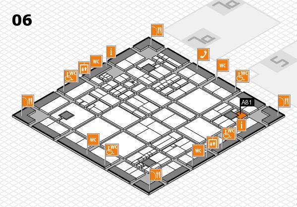 drupa 2016 hall map (Hall 6): stand A81