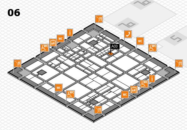 drupa 2016 hall map (Hall 6): stand A33