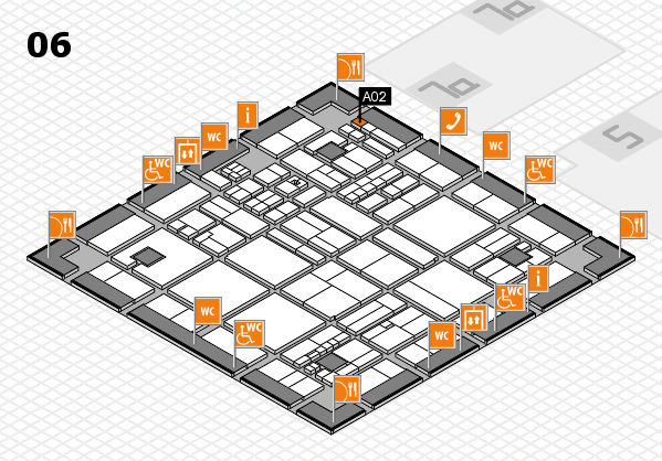 drupa 2016 hall map (Hall 6): stand A02