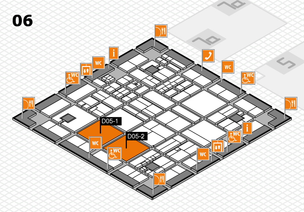 drupa 2016 hall map (Hall 6): stand D05-1, stand D05-2
