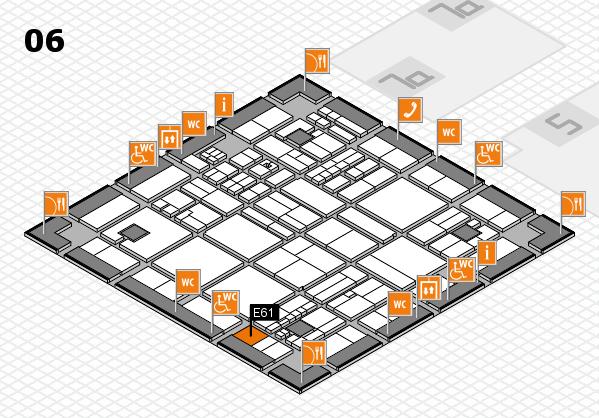 drupa 2016 hall map (Hall 6): stand E61