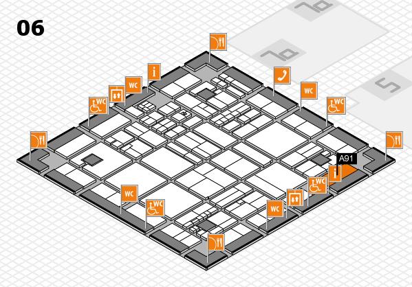 drupa 2016 hall map (Hall 6): stand A91