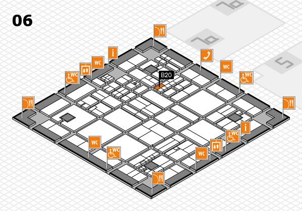 drupa 2016 hall map (Hall 6): stand B20