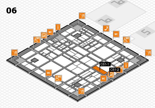 drupa 2016 hall map (Hall 6): stand C61-1, stand C61-2
