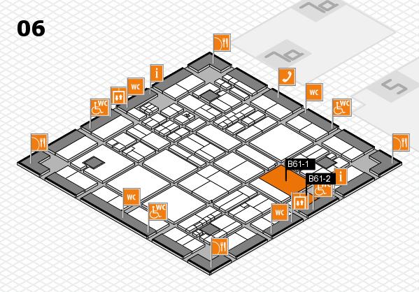 drupa 2016 hall map (Hall 6): stand B61-1, stand B61-2