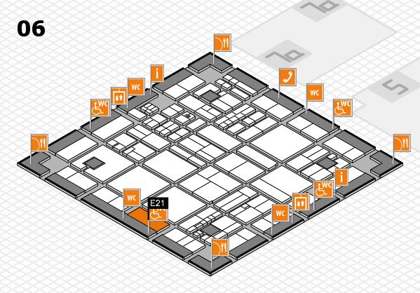 drupa 2016 hall map (Hall 6): stand E21