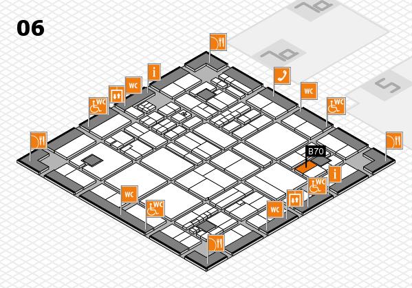 drupa 2016 hall map (Hall 6): stand B70