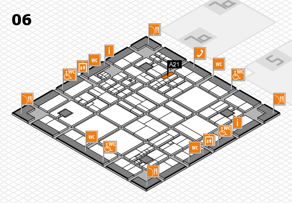 drupa 2016 hall map (Hall 6): stand A21