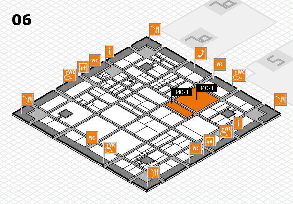 drupa 2016 Hallenplan (Halle 6): Stand B40-1.B40-2