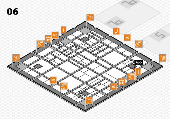 drupa 2016 hall map (Hall 6): stand A85