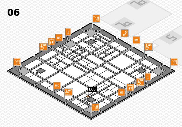 drupa 2016 hall map (Hall 6): stand E66
