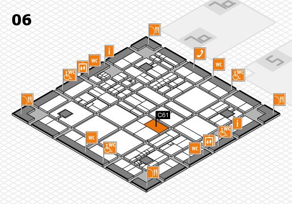 drupa 2016 hall map (Hall 6): stand C61