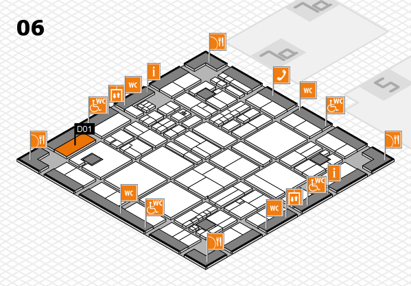 drupa 2016 hall map (Hall 6): stand D01