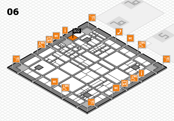 drupa 2016 hall map (Hall 6): stand B02