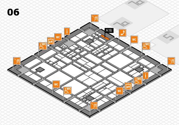 drupa 2016 hall map (Hall 6): stand A18