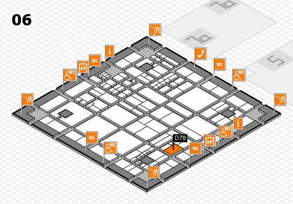 drupa 2016 hall map (Hall 6): stand D78
