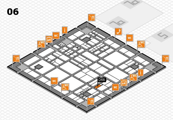 drupa 2016 hall map (Hall 6): stand D68