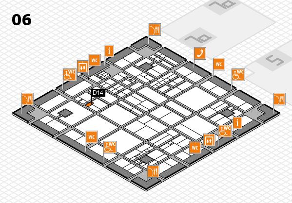 drupa 2016 hall map (Hall 6): stand D14