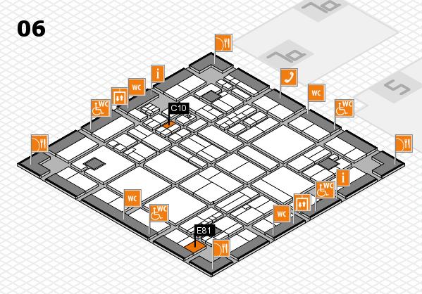 drupa 2016 hall map (Hall 6): stand C10, stand E81